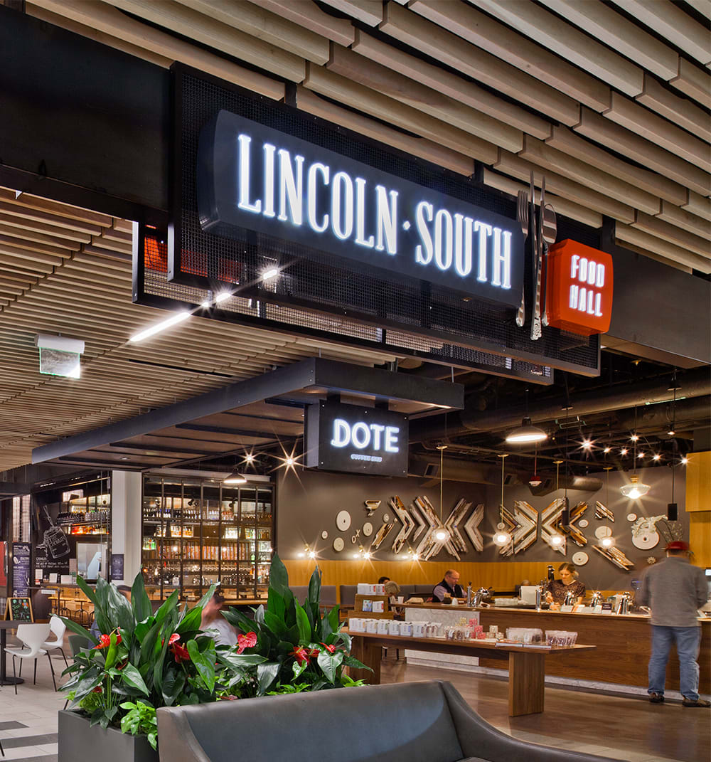 Community and Neighborhood- Foodhall at Two Lincoln Tower, Bellevue, Washington