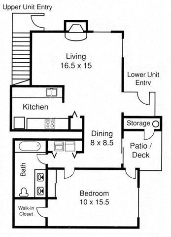 Floor Plans Of Borgata Apartments Townhomes In Renton Wa