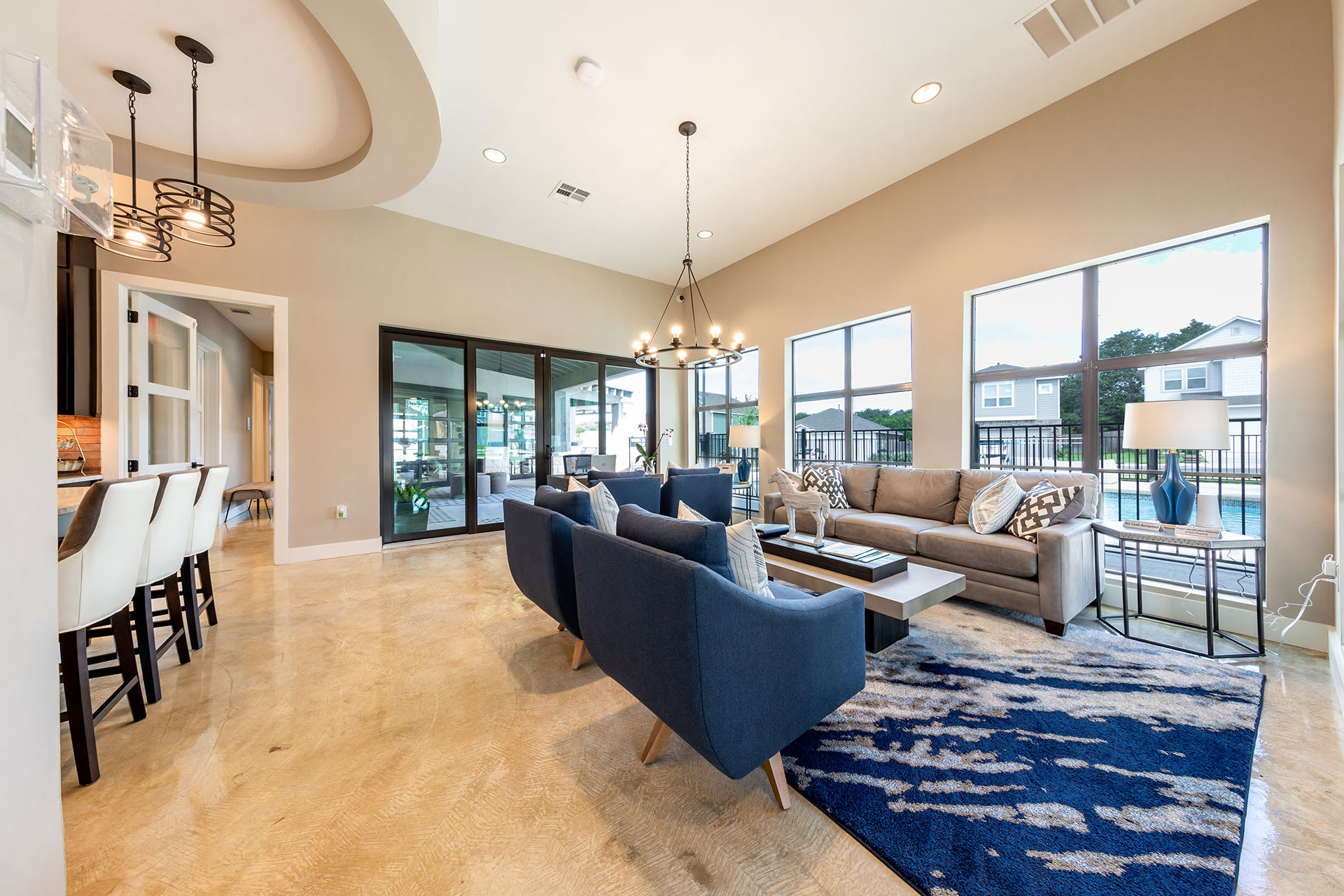 Rivers Edge Apartments Clubhouse with Wi-Fi