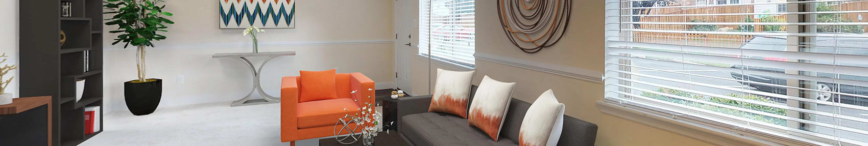 banner image panoramic of interior unit view  at Gainsborough Court Apartments, Virginia, 22030