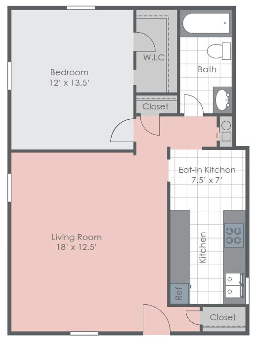 Floor Plans Of Pebble Creek Apartments In Jackson Ms