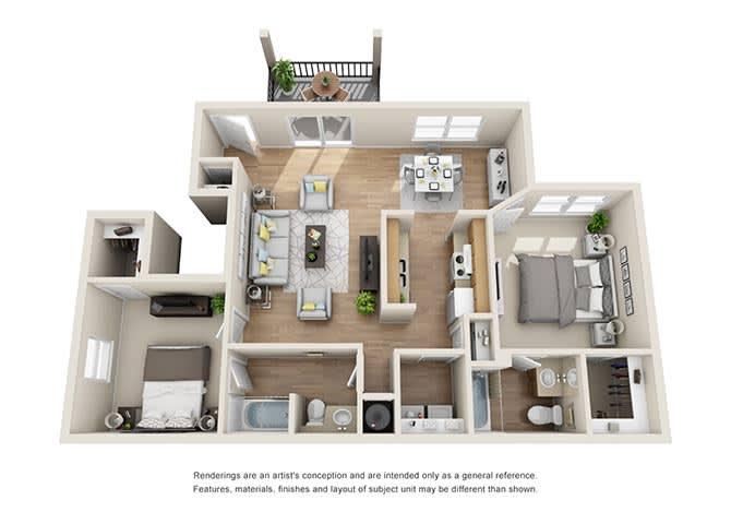 Biltmore Floor Plan at Tramore Village Apartment Homes, Austell