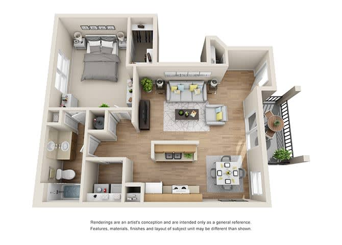 Fairmont Floor Plan at Tramore Village Apartment Homes, Austell, 30106