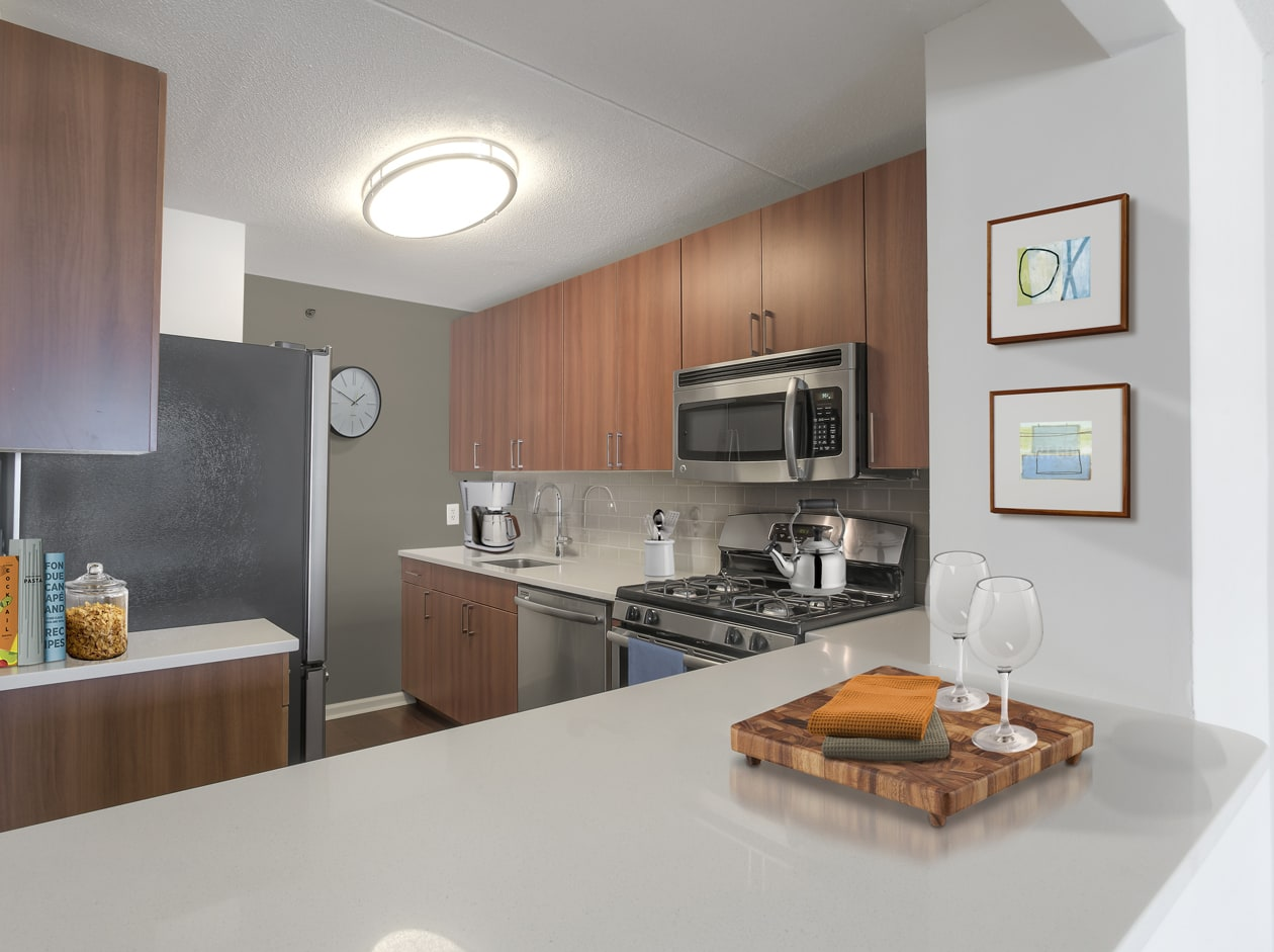 Luxury Kitchens at 10 West Apartments