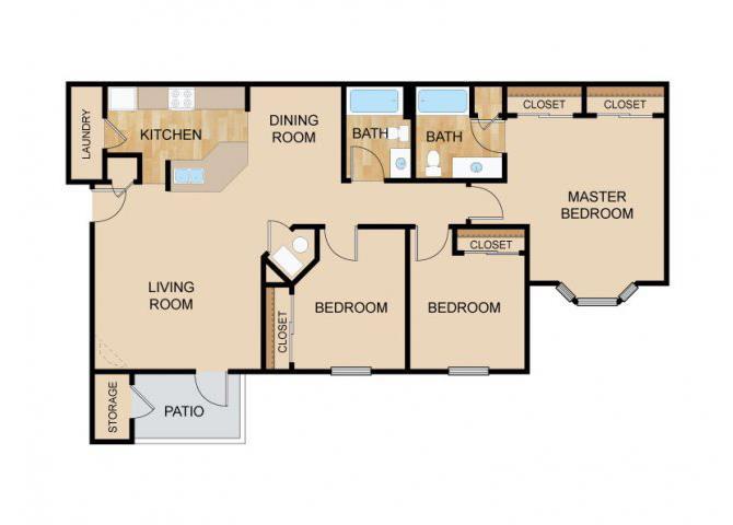 The Valley Floor Plan, at The Vue, Bellevue, NE 68123