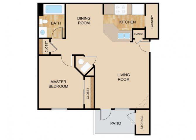 The Vista Floor Plan, at The Vue, 2882 Comstock, Bellevue, Nebraska