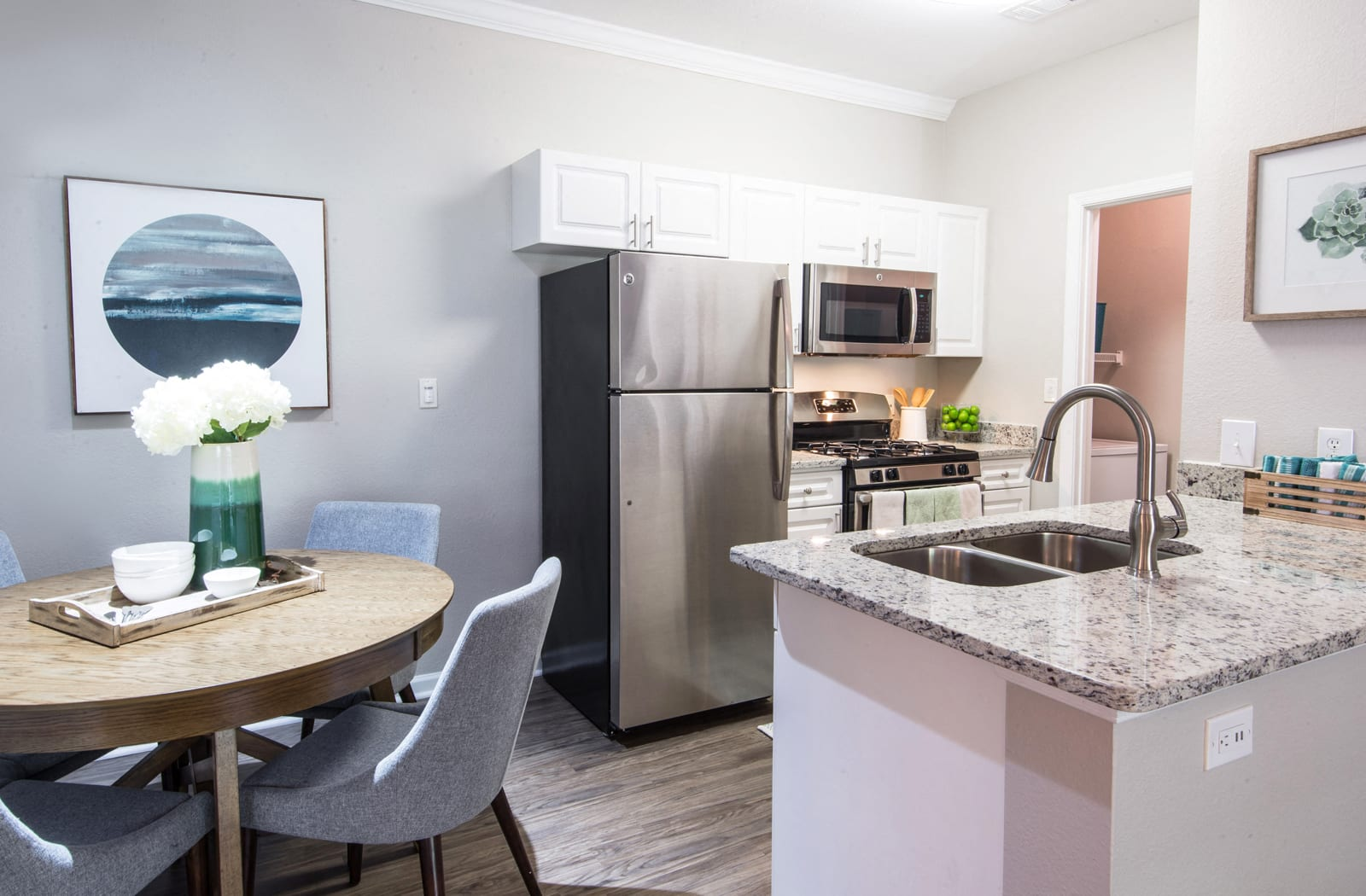 Renovated Kitchen, Riverstone at Owings Mills Apartments, Owings Mills, MD