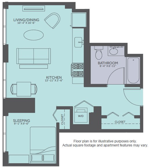 Moment Studio 1 2 3 Bedroom Apartments In Chicago Floor Plans