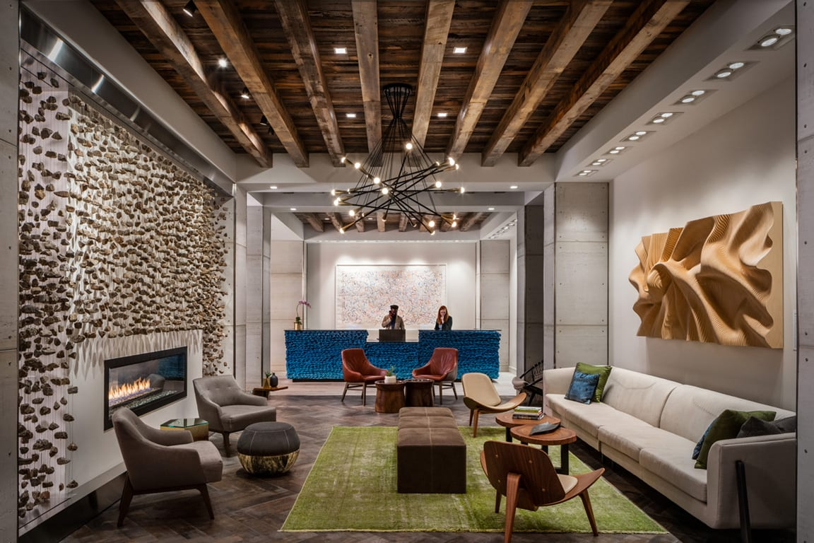 Exquisite Hotel Reception Area at Aertson Midtown, Nashville, Tennessee