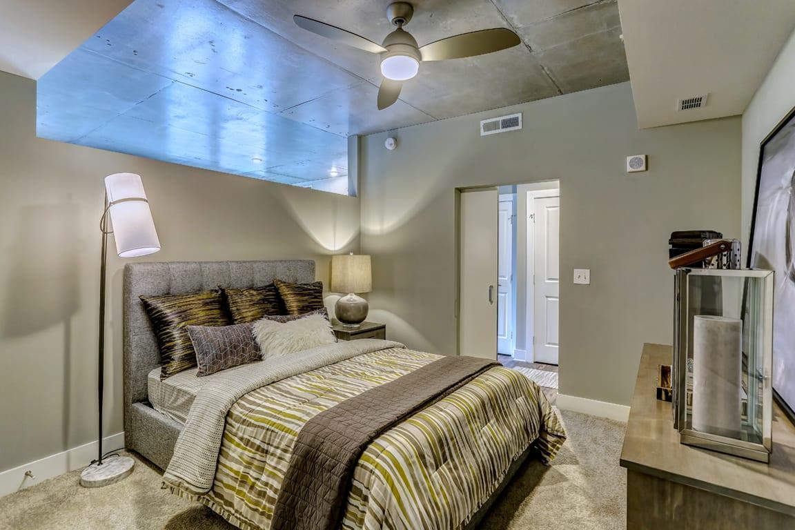 Marvelous Bedroom Interior at Aertson Midtown, Nashville, TN, 37203