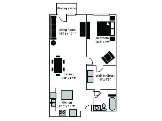 Morehead Floor Plan at CityView Apartments, North Carolina