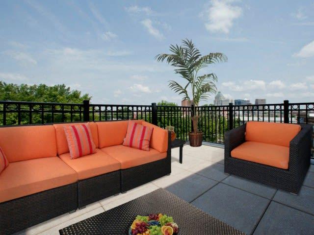 Patios at CityView Apartments, Greensboro, North Carolina