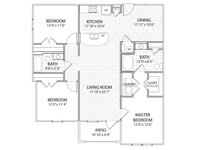Apex Floor Plan at Arrington Ridge, Round Rock, TX, 78665