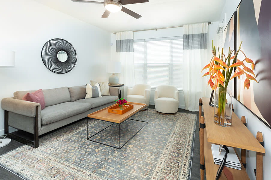 Comfortable Living Room at Parc View Apartments & Townhomes, Midvale, UT