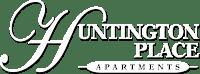 White Logo for Huntington Place Apartments, Essexville, MI, 48732