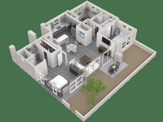 The Haven Floor Plan at Avilla Paseo, Phoenix, 85027