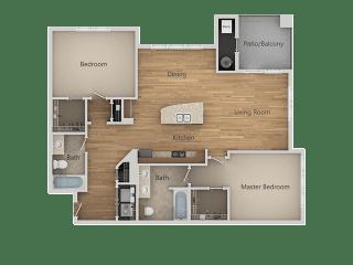 B2 2Bed_2Bath at Avena Apartments, Thornton, Colorado