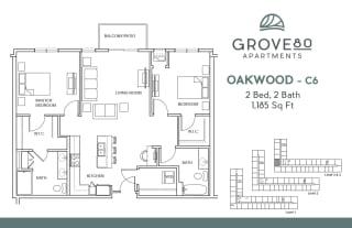 Grove80_Oakwood-C6_2BR_1185sf