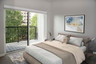nordic studio floor plan, bedroom area