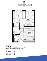 studio floor plan drawing, foley