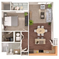 Baltimore Floorplan at Discovery Heights, Issaquah, WA