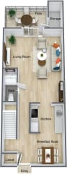 Floor Plan Renovated 2 Bedroom Townhome