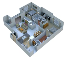 2 Bedrooms 2 Baths