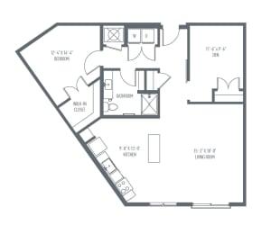 C1b Henderson floor plan at Union Berkley