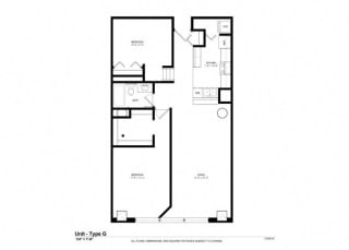 1 Bed - 1 Bath |863 sq ft floorplan at Cosmopolitan Apartments, Minnesota