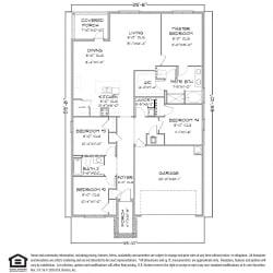 Cali FE G Floorplan 2, 4 Bed 2 Bath, 1787 SQ.FT.