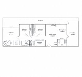 Floor Plan 3B 2B