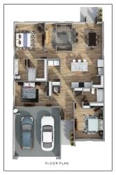 Lismore 3D FloorPlan at Rock Ridge, Pensacola, FL
