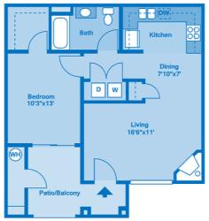 Villas at Montebella 1B Floor plan 2d image depicting floor play layout.