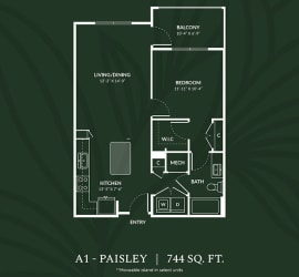 A1 PAISLEY Floor Plan at Alta Croft, North Carolina