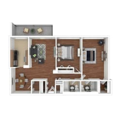 Colesville  Towers Apartments  2 bedroom floorplan 1188 sq ft