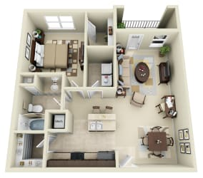 A2 Floor Plan at Carolina Point Apartments, Greenville, 29607
