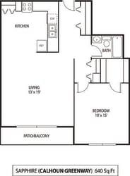 The Calhoun Greenway Apartments in Minneapolis, MN 1 Bedroom 1 Bath