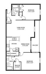 Evans Meadows Apartments in Elk River, MN 2 Bedroom 2 Bath
