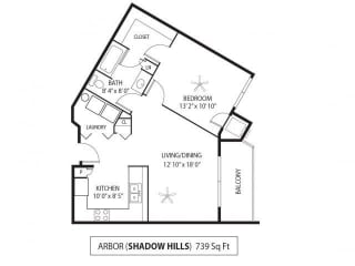 Shadow Hills Apartments in Plymouth, MN 1 Bedroom 1 Bath