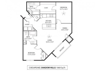 Shadow Hills Apartments in Plymouth, MN 2 Bedroom 2 Bath