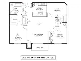 Shadow Hills Apartments in Plymouth, MN 2 Bedroom 2 Bath Plus Den