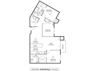 Shadow Hills Apartments in Plymouth, MN 3 Bedroom 2 Bath