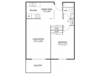 Willow Creek Apartments in Plymouth, MN 1 Bedroom 1 Bath
