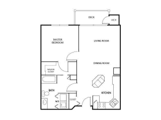 The Gables at Park Pointe Apartments in St. Louis Park, MN 1 Bedroom 1 Bath