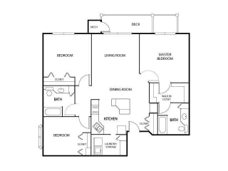 The Gables at Park Pointe Apartments in St. Louis Park, MN 3 Bedroom 2 Bath