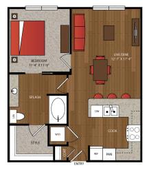 Ella Apartments A5.1 Floor Plan