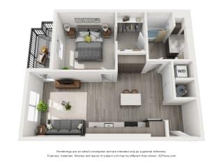 Aiya Apartments A2 Floor Plan