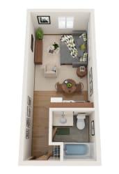 Studio 3D floorplan layout