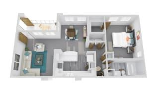 Zone Apartments Coyote 3D Floor Plan