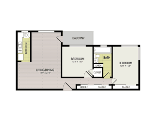 Broadview Apartments 2A Floor Plan